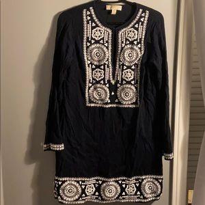 Michael Kors Navy Tunic Dress - Size Small
